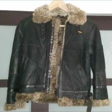 Shearling skin with Nappa Leather Finish Parka Girls, size M (for age 8-10), New