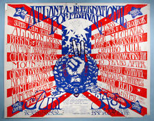 1970 2nd Atlanta Pop Festival Orig. Rock Concert Poster Jimi Hendrix Allman Bros