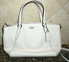 Authentic COACH Mini KELSEY Satchel Crossbody Pebble Leather Chalk Handbag Purse