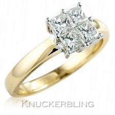 Princess Not Enhanced Cluster Fine Diamond Rings