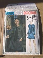 Vogue 2383 Jean Patou Loose Fit Slight A-Line Dress Size 12 Bust 34 Uncut Rare