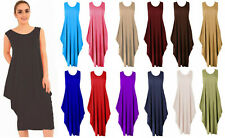 Womens Lagenlook Tulip Stretchy Long  Parachute Midi Dress