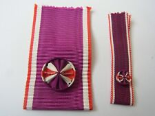 LOT DE 2 RUBANS   ROSETTE  OFFICIER  ORDRE INTERNATIONAL DU BIEN PUBLIC