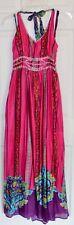 BOOHOO Women's IRLENE Pink Embellished Halter Maxi Dress Size 4 UK 8 / NWT *JEN