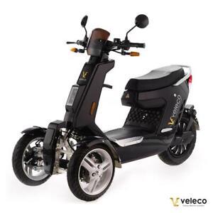 Vélomoteur électrique TRIKE Veleco SAGITTA Noir 2000W Moteur Lithium-Ion