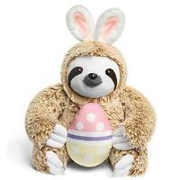 Light Autumn Easter Bunny Stuffed Animal - Stuffed Sloth Bunnies for Easter -
