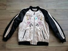 Marks and Spencer Per Una Floral embroidered bomber style jacket. Size 14. BNWT