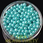 New 300pcs 6mm Round Czech Glass Pearl Loose Spacer Beads Lake Blue