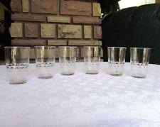 Chauny / Palerme. 6 (+3) verres, gobelets cristal de Baccarat.