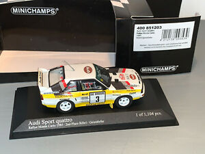 RALLY 1/43 MINICHAMPS AUDI QUATTRO SPORT MONTE CARLO 1985 WALTER ROHRL WRC L/E