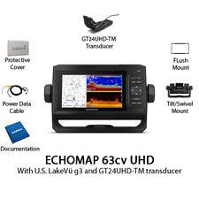 Garmin ECHOMAP UHD 63cv Chartplotter/Fishfinder with GT24UHD-TM 010-02330-01