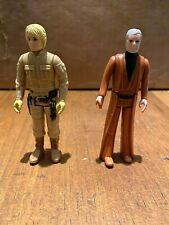 Vintage Kenner Hong Kong STAR WARS Luke Skywalker Besbin Obi-Wan Kenobi Lot