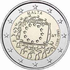 Malta 2 Euro 30 Jahre Europaflagge 2015 prägefrische Sondermünze