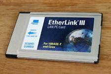 3Com Etherlink III LAN PC Card 3C589D Combo PCMCIA Notebook Netzwerk Karte