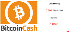 0.001 Bitcoin Cash 1 hours Bitcoin Cash BCH Cryptocurrency mining contract