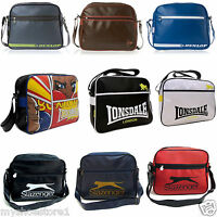 BRANDED DUNLOP RETRO SHOULDER MESSENGER SCHOOL COLLEGE FLIGHT GYM BAG SATCHEL