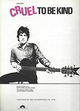 NICK LOWE - CRUEL TO BE KIND - ORIGINAL USA 1979 SHEET MUSIC WITH LYRICS - MINT
