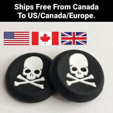 Skull and Crossbones Silicone Thumb Grip Caps for PS5 PS4 Xbox 360 Free Shipping