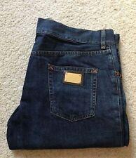 "Mens Dolce & Gabbana indigo blue straight leg jeans W 41 "" L 36 """