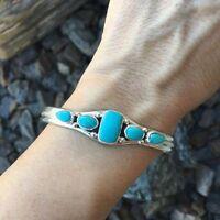 Charm Cuff Jewelry Lady Vintage For Adjustable Turquoise Bracelet Bangle