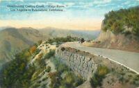 Bakersfield California Castaic Los Angeles 1920s Ridge Route Postcard 11172