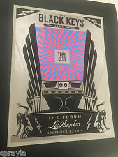 Shepard Fairey Obey Black Keys Los Angeles Signed Numbered Art Print Poster.