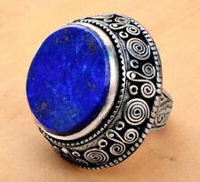 Lapis Lazuli Kuchi Afghan Ring Ethnic Bohemian Jewelry Carved Tribal Gypsy Boho