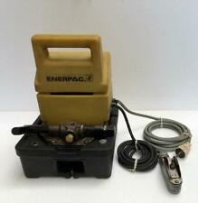 ENERPAC PUJ1200E ELECTRIC HYDRAULIC PUMP/ POWER PACK 700 BAR/10,000 PSI 220V (2)