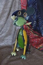Vintage Metal Dog with Bobbing Head and Glass eye's …great conversation piece
