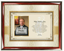Law School Graduation Gift Picture Frame Photo Plaque New Attorney Lawyer Bar