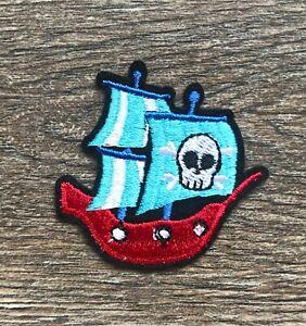 Piratenschiff Patch Aufnäher Bügelbild Pirate Ship