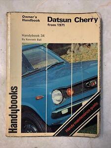 Datsun Cherry Mk1 From 1971 Owners Handbook Handybooks Maintenance Guide