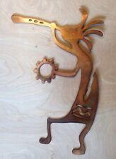 Kokopelli Rustic Copper Patina Finish Metal Wall Art Hanging