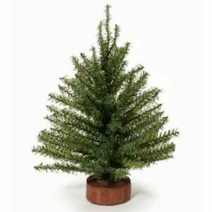 Darice Christmas Mixed Pine Tree with Wood Base - 106 Tips - 9 inches Tall