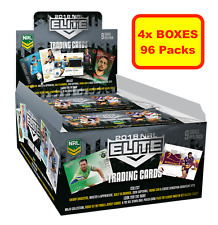 4x 2018 RUGBY LEAGUE NRL ELITE Trading Cards, Sealed Boxes 48 Packs Express Post