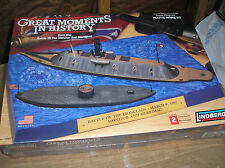 BATTLE  OF THE  MONITOR  AND  MERRIMAC - DIORAMA   (NEW)  BY  LINDBERG