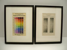 Elementary Color by Milton Bradley Framed Matted Art Plates Vintage Color Theory