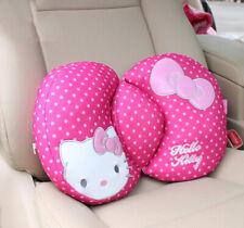 Cute Hot Pink Hello Kitty Bow Waist Cushions Lumbar Pillows Car Interior Decor