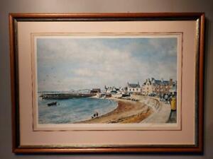 James McIntosh Patrick    signed Ltd ed  Print Beach Crescent Broughty Ferry