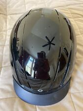 troxel adjustable shiny black riding helmet