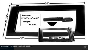66-77 Bronco Window/Top Side Panel RH