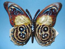 """Home Garden Pool Yard Small - Butterfly Wall Decor Brown Lt Blue 6.5"""" X 5"""" New"""