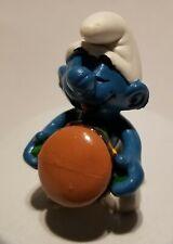 Smurfs Hamburger Smurf Burger 20158 Vintage Figure PVC Toy 1983 Peyo Figurine.