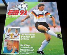 Ferrero Album Fussball EM 92, vollständig mit allen Duplo Hanuta Bildern (c)1992
