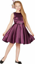 Kids 'Audrey' Vintage Satin Clarity 50's Party Girls Prom Dress