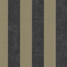 P+S Carat Vlies Tapete 13346-90 Streifen schwarz gold metallic