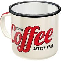 Emaille Strong Coffee Becher Kaffeetasse Souvenir Tasse,360 ml.,coffee mug
