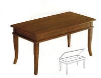 Tavolino rettangolare arte povera , soggiorno, salotto , legno massello , sala