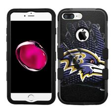 for iPhone 8 Plus Rugged Rubber+Hard Hybrid Case Baltimore Ravens #Glove