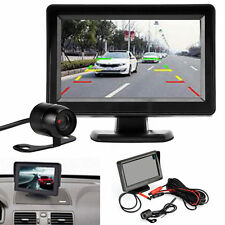"4.3"" TFT LCD Display DC 12V-24V Car Rear View Monitor Backup Reverse Camera"
